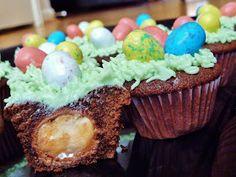 Cadbury Creme Egg Mini Cupcakes