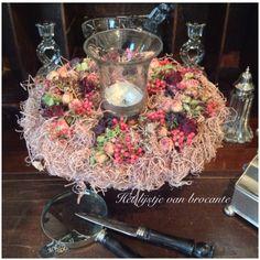 Homemade wreath by Silvia Hokke....