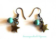 Irrésistibles petites étoiles - Création 2mainsgauches&10pouces : Boucles doreille par mrs-annatomic sur ALittleMarket