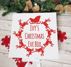 Personalised Christmas Eve Box, Christmas Gift Box, Personalised Box, Christmas Movies, Xmas Eve Boxes, Personalized Gifts For Her, Gifts For Kids, Crates, Pyjamas