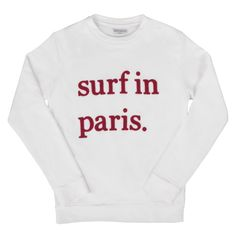 Made for city surfers everywhere, Cuisse de Grenouille's logoed sweatshirt is like a souvenir from a weekend in Biarritz. It has a crew neck and a classic fit. Banded cuffs, waist, and collar.  Avalaible in XS for girls   Made in Portugal