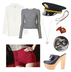 """I'm Captain of THIS ship..."" by kelseylee62983 on Polyvore featuring Sea, New York, Hermès, Opening Ceremony, Sonia Rykiel, Wild Hearts and Fornasetti"