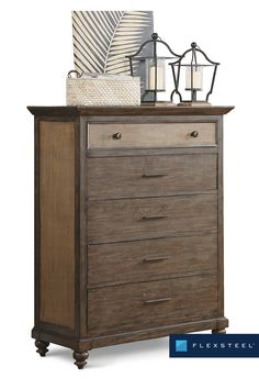 Top drawer is felt-lined, and remaining four drawers are cedar-lined. Its mixed materials complemented with elegant turnings and molding make Wakefield a fresh fashion forward design. Wakefield, Top Drawer, Bedroom Inspiration, Fashion Forward, Drawers, Furniture Design, Felt, Interior Design, Elegant