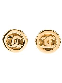 Chanel Vintage Clip-On Earrings - Rewind Vintage Affairs - farfetch.com