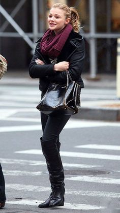 Chloe Grace Moretz street style is casual but fashionable, I can easily see myself wearing her style everyday.