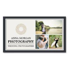 Elegant Wedding Photographer Business Card