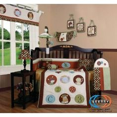 Boutique Animal Scholar 13PCS CRIB BEDDING SET