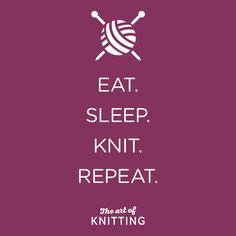 #routine #knit #knitting #mantra