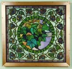 "Tiffany Studios | Mosaic Sample Panel, ""December"" 