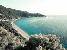 Pefkoulia beach. Lefkada.