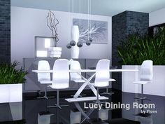 Lucy Dining by Flovv  http://www.thesimsresource.com/downloads/1185948