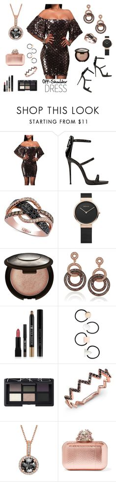 """Spring Trend: Off-Shoulder Dresses Contest"" by texasradiance ❤ liked on Polyvore featuring Giuseppe Zanotti, LE VIAN, Becca, Suzy Levian, Forever 21, Miss Selfridge, NARS Cosmetics, Anne Sisteron, Jimmy Choo and offshoulderdress"