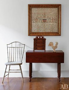 A 19th Century Sampler Used In Bright Clean Antique Display Nantucket House