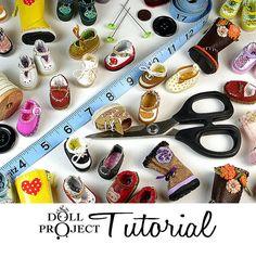 Kleine Puppe Schuh PDF Tutorial Make 28mm Schuhe für Lati gelb Blythe Pukifee Dolls von DollProject