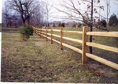 split rail fence with liner