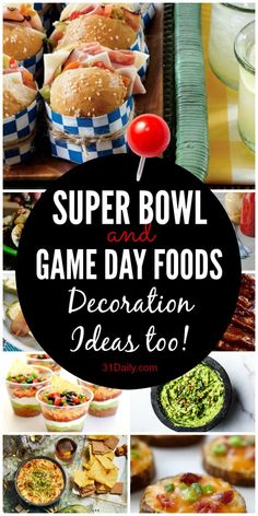 Super Bowl and Game Day Food Ideas: Easy and Fun - Schönen Tag Guten Morgen Healthy Superbowl Snacks, Quick Snacks, Football Food, Football Parties, Food Decoration, Game Day Food, Clean Eating Snacks, Tasty Dishes, Good Morning