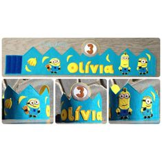 Corona cumpleaños Minions Nintendo 64, Pasta, Kids Rugs, Logos, Birthday, Floral, Baby, Fiestas, Minion Birthday