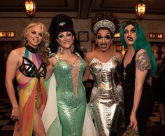 Courtney Act, BenDeLaCreme, Bianca Del Rio, and Adore Delano