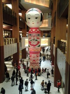 "Giant Kokeshi Doll ""Hanako"" at  Roppongi Art Night, Tokyo, Japan...and yes, we know it's hard to fit under the Christmas tree.."