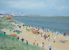 ARTFINDER: Bridlington on the Yorkshire Coast by Malcolm Ludvigsen - This is a 16x12'' oil sketch I did on Bridlington beach last summer - a proper plein-air oil painting but at a bargain price. It's in a very nice white wood...