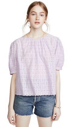 Velvet Holland Top In Lavender Velvet Fashion, World Of Fashion, Lavender, Tunic Tops, Shoulder, Fabric, Sleeves, Cotton, Holland