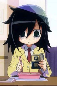 Tomoko from Watamote- shes one of my favorites because she plays allot of video games, and would rather stay home and do that.