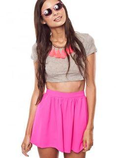 Pink Shorts - High Waisted Shorts