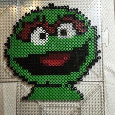 Oscar the Grouch - Sesame Street perler beads by Jake Tastic