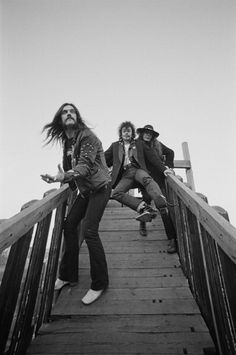 Motorhead posed on a playground ramp in Islington, London December 1980.