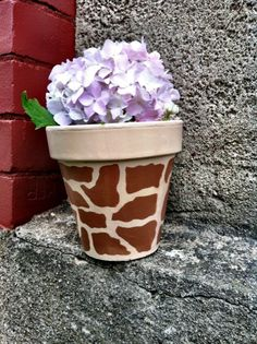 Doing this! Giraffe print clay pot