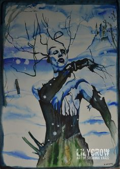 The Nobodies - Marilyn Manson by Susanna Varis water color 2012