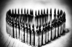 Super cute artwork.....actual bullets.