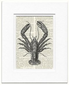 Lobster II dictionary page print by FauxKiss on Etsy