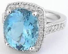 aquamarine rings - Buscar con Google