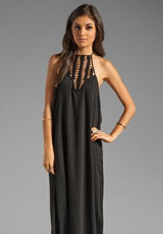 96f3fc2b617 Acacia Swimwear Positano Crochet Maxi Dress in Storm. Love the neckline and  detail of this