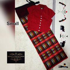 Traditional Dresses Designs, Burmese Girls, Myanmar Traditional Dress, Batik Dress, Red Silk, Woman Clothing, Saree Blouse, Blouse Designs, Sarees