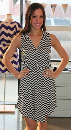 Dottie Couture Boutique - Black Chevron Tank Dress, $46.00 (http://www.dottiecouture.com/chevron-tank-dress/)