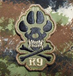 K9-CROSSBONE-KILLER-ATTACK-POLICE-DOG-ARMY-MORALE-TACTICAL-FOREST-VELCRO-PATCH