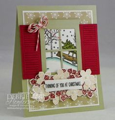 Merry Monday Challenge #125 using Stampin' Up! White Christmas. Debbie Henderson, Debbie's Designs.