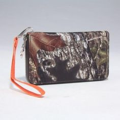 Licensed Mossy Oak Camo Camouflage Zipper Flat Wallet (Mossy Oak Camo Orange)