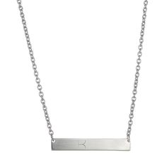 INITIAL BAR NECKLACE.