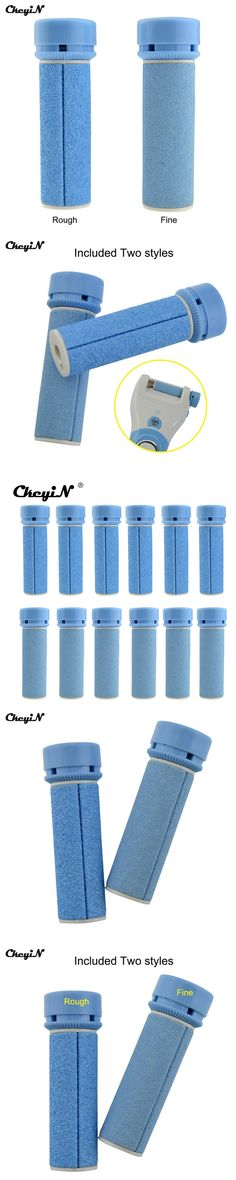 CkeyiN 12Pcs Quality Replacement Roller Grinding Heads For Foot File Pedicure Machine Dead Callus Skin Remover Foot Care Tools