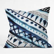 Amy Sia Indigo Stripe Throw Pillow by DENY Designs