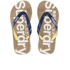 Superdry Women's Cork Flip Flops - Eclipse Navy/Mustard