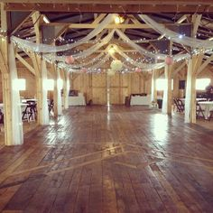 Lindsi + Luke | 5.23.14 | Wedding ceremony and reception at Willow Creek | Looking from back of barn