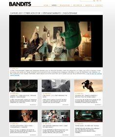 Création et réalisation du site internet de la société de production Bandits. #Minit-L www.minit-l.com