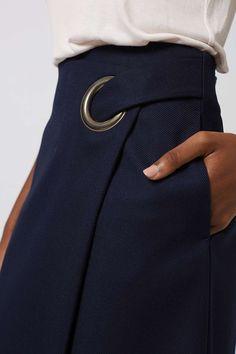 Wrap Midi Skirt - Skirts - Clothing