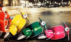 Effetto domino – AM Noleggio Scooter Lambretta Scooter, Vespa Scooters, Vintage Motorcycles, Cars And Motorcycles, Lml Star, Italian Scooter, Yellow Car, Scooter Girl, Pedal Cars