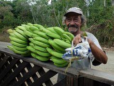 Banana transaction, Los Mineros, Dos Brazos de Rio Tigre, Corcovado National Park, Osa Peninsula, Costa Rica, 2016, HR.