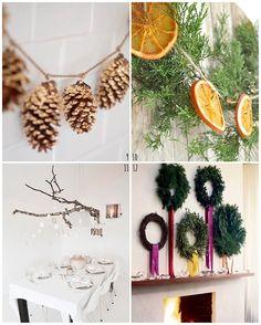 冬の結婚式やパーティーの自然素材デコレーション